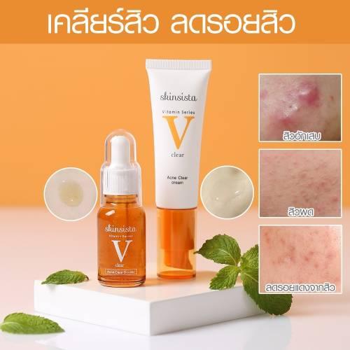 SkinsistaV clear cream 30 ml + V clear booster 15 ml