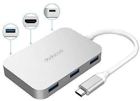 Dodocool Aluminium USB-B Hub Multiport 6-in-1
