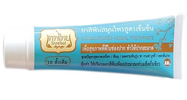 ยาสีฟันเทพไทย สูตรเข้มข้น รสดั้งเดิม