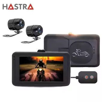 Hastra กล้องติดมอเตอร์ไซค์ หน้า-หลัง