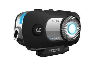 SCS S10 บลูทูธติดหมวกกันน็อคมีกล้อง