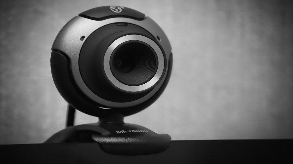 ภาพระยะใกล้ของกล้องเว็บแคม