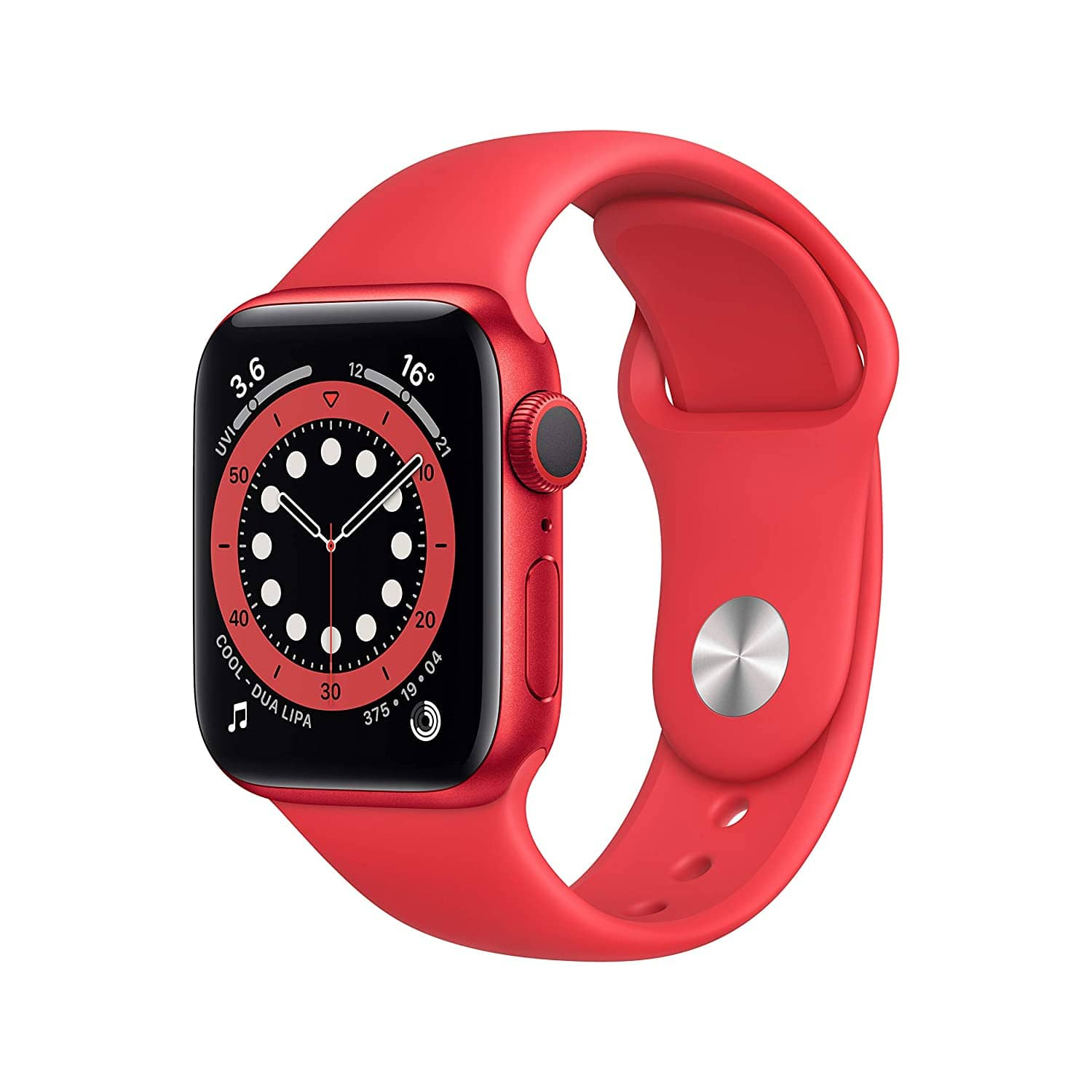 Apple Watch Series 6 pink and red