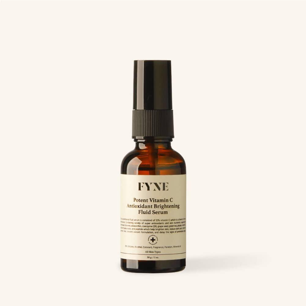 FYNE Potent Vitamin C Antioxidant Brightening Fluid Serum