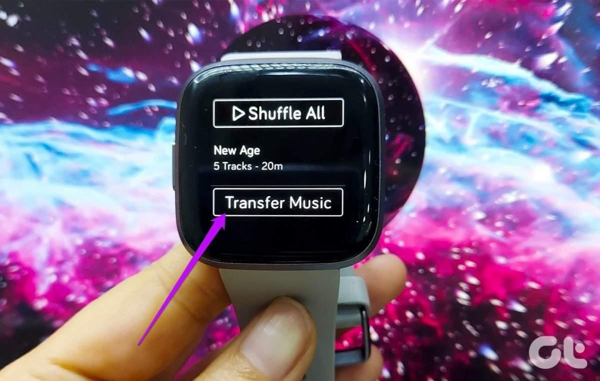 ที่เก็บเพลงของ Fitbit Versa 2