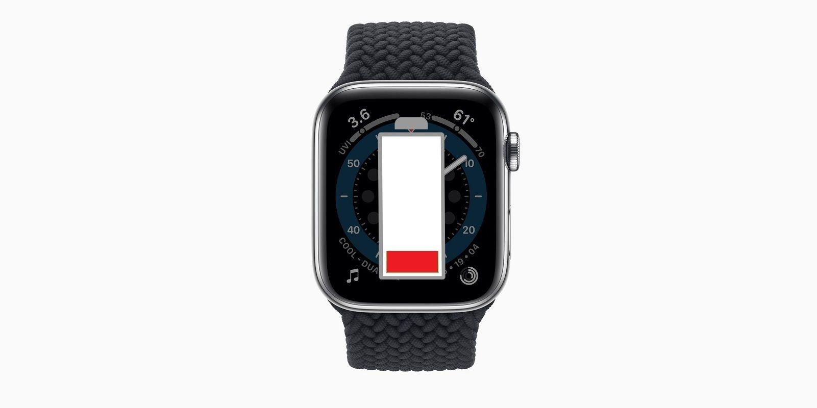 รีวิว Apple Watch 6: อายุการใช้งานแบตเตอรี่