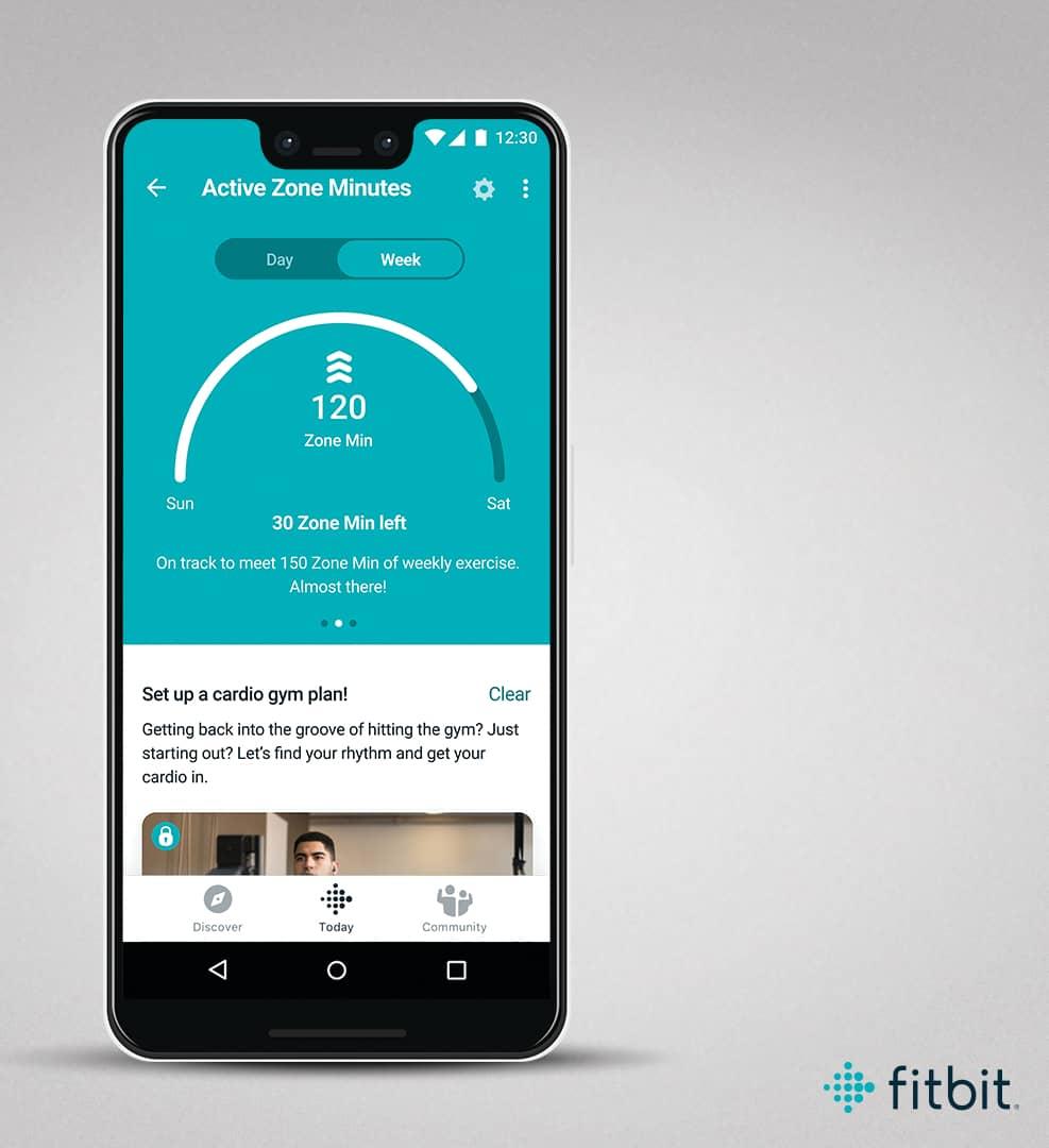 fitbit ชาร์จ 4 นาทีโซนแอคทีฟ