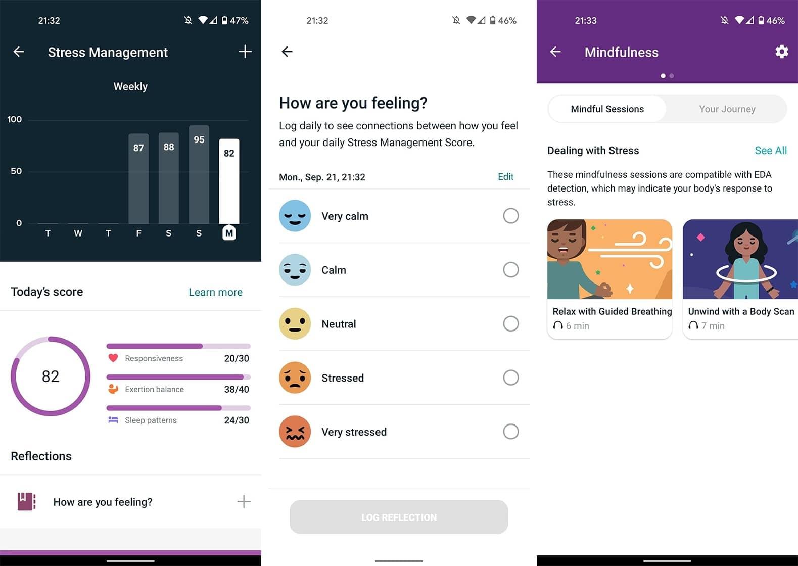 Fitbit Sense การจัดการความเครียด